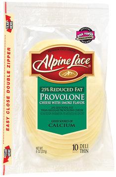 Alpine Lace® Provolone W/Smoke Flavor Reduced Fat Slices Deli Cheese 8 Oz Shingle Pack