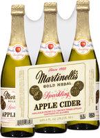 Martinelli's® Gold Medal® Sparkling Apple Cider 3-25.4 fl. oz. Bottles