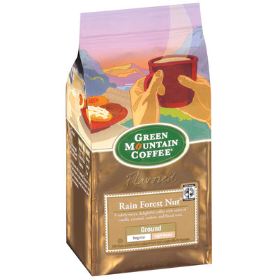 Green Mountain Coffee Roasters Flavored Rain Forest Nut Ground Signature Coffee 12 Oz Stand Up Bag