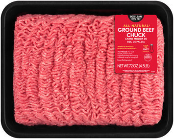 80/20 Ground Beef Chuck 4.5 lb. Tray
