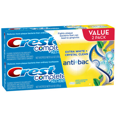 Crest Complete Multi-Benefit Antibac Mint Toothpaste Twin Pack 12 oz. Carton