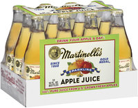 MARTINELLI'S GOLD MEDAL® Sparkling 10 FL OZ 100% Apple Juice 12 PK GLASS BOTTLES
