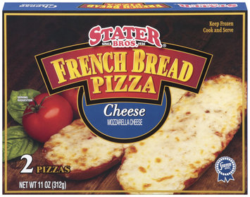 Stater Bros. Cheese 11 Oz French Bread Pizza 2 Ct Box