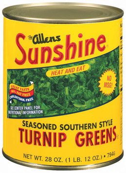 The Allens Sunshine Seasoned Southern Style Turnip Greens 28 Oz Can