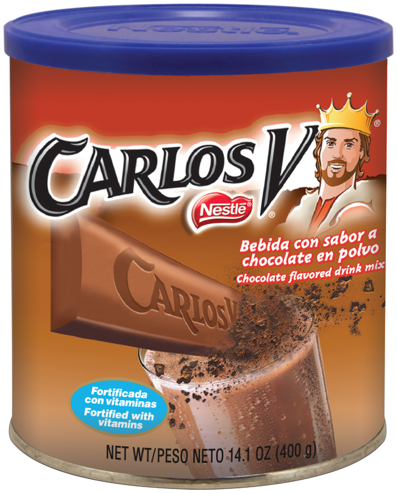 Nestlé CARLOS V Chocolate Flavored Drink Mix 14.1 oz. Canister