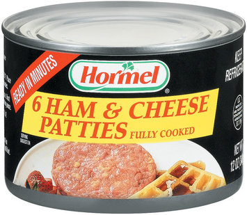 HORMEL Patties Fully Cooked 6 Ct Ham & Cheese