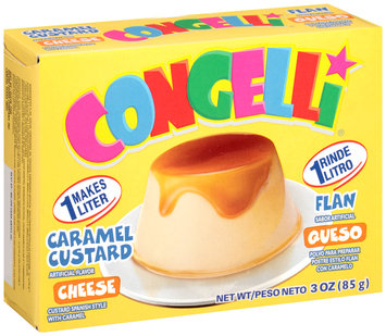 Con-Gelli® Cheese Caramel Custard Flan 3 oz. Box