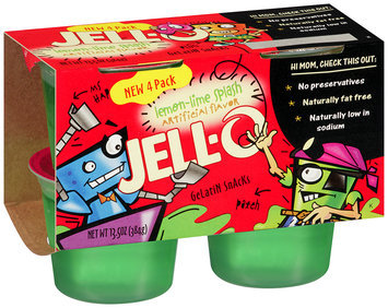 Jell-O Lemon-Lime Splash Gelatin Snacks 4 ct Cups