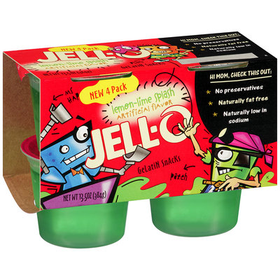 JELL-O Lemon-Lime Splash Gelatin Snacks