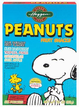 Haggen Peanuts Four Fabulous Favors 6 Ct Fruit Snacks 5.4 Oz Box