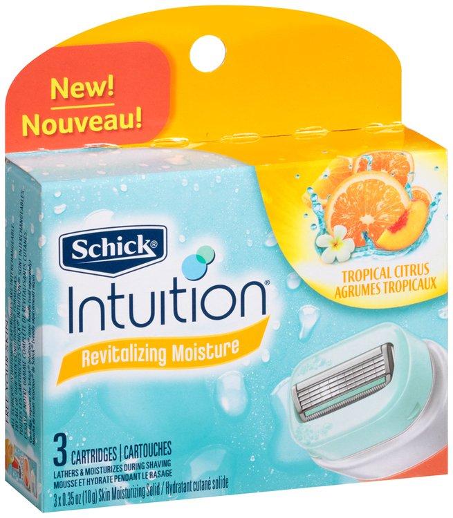 Schick Intuition® Revitalizing Moisture Tropical Citrus Refill Cartridges 0.35 oz. 3 ct Box