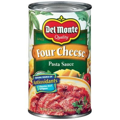 Del Monte Four Cheese Pasta Sauce 26.5 oz. Can
