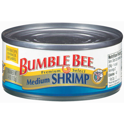 Bumble Bee Medium Shrimp 4 Oz Can