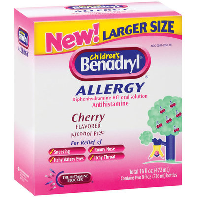 Benadryl® Cherry Flavored Liquid Club 2 Ct Allergy 16 Fl Oz Box