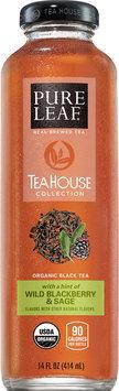 Pure Leaf® Tea House Collection Wild Blackberry & Sage Organic Black Tea 14 fl. oz. Bottle