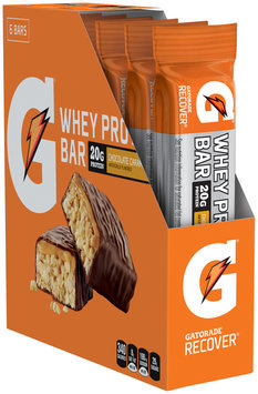 G® Gatorade Recover® Chocolate Caramel Whey Protein Bar 6 ct Box