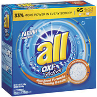 all® OXI-Active Micro-Boost Formula w/ Cleaning Beads Powder Laundry Detergent 95 Loads 165 oz. Box