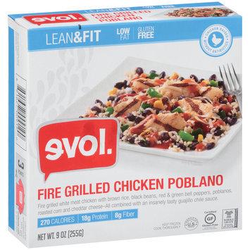 Evol. Lean & Fit Fire Grilled Chicken Poblano 9 oz. Box