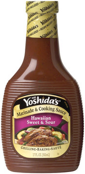 MR. YOSHIDA'S Hawaiian Sweet & Sour Marinade & Cooking Sauce 17 OZ PLASTIC BOTTLE