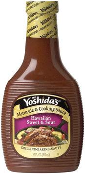 MR. YOSHIDA'S Hawaiian Sweet & Sour Marinade & Cooking Sauce 17 OZ PLASTIC BOTTLE