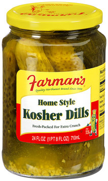 Farman's® Home Style Kosher Dills 24 fl. oz.