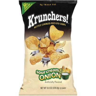 Krunchers!® Kettle Cooked Potato Chips Sour Cream & Onion 8 oz.