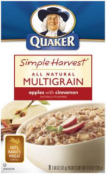 Simple Harvest Apples W/Cinnamon All Natural Multigrain Hot Cereal 8 Pk Box