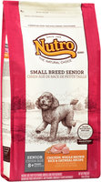 Nutro® Small Breed Senior Chicken, Whole Brown Rice & Oatmeal Recipe Dog Food 8 lb. Bag