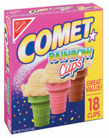 Nabisco Comet Rainbow Ice Cream Cups