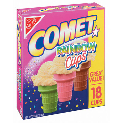 Nabisco Comet Rainbow Ice Cream Cups