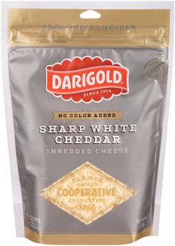 Darigold® Sharp White Cheddar Shredded Cheese 8 oz. Bag
