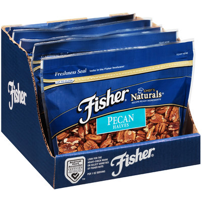 Fisher® Chef's Naturals® Pecan Halves 16 oz. Stand-Up Bag