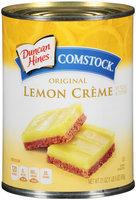 Duncan Hines® Comstock® Original Lemon Creme Pie Filling & Topping 21 oz. Can