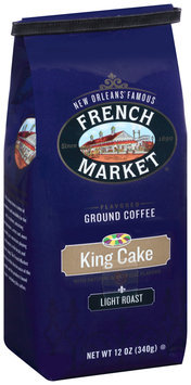 French Market® Light Roast King Cake Flavored Ground Coffee 12 oz. Bag