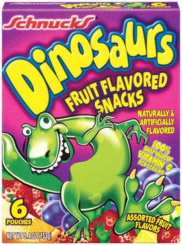 Schnucks Dinosaurs Assorted Flavors 6 Ct Fruit Snacks 5.4 Oz Box
