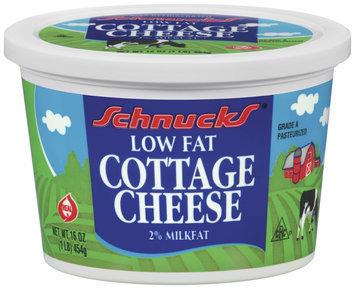 Schnucks 2% Milkfat Low Fat Cottage Cheese 16 Oz Plastic Tub
