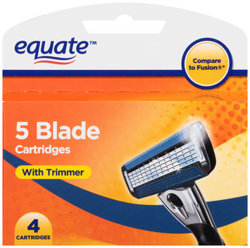 Equate™ 5 Blade Cartridges with Trimmer 4 pc. Box