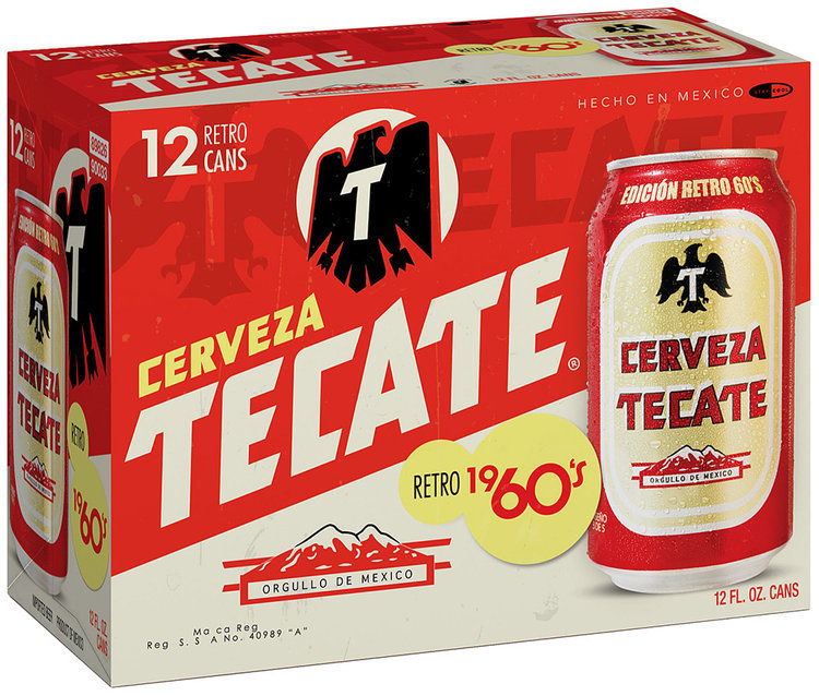 Tecate 60's Retro Beer