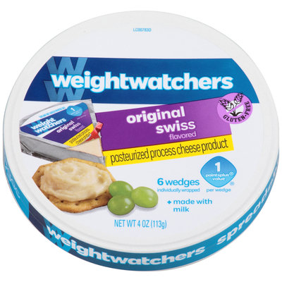 Weight Watchers Original Swiss Flavored Cheese 6 ct Wedges