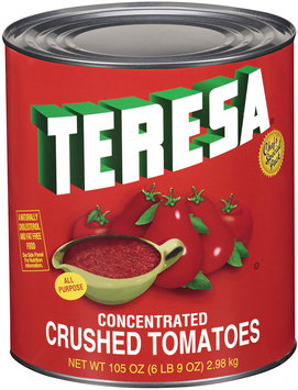Teresa® Concentrated Crushed Tomatoes 105 oz