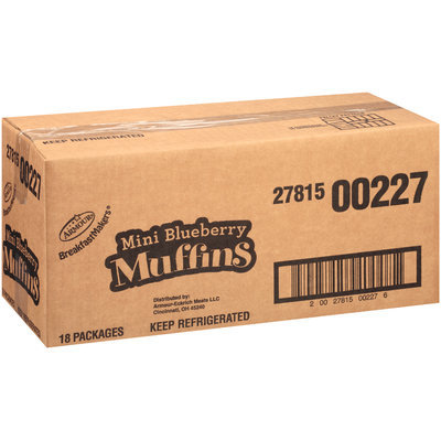 Armour® Breakfast Makers™ Mini Blueberry Muffins 2.35 oz. Tray