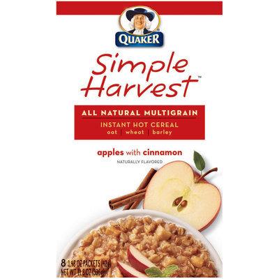 Quaker Life® Apples W/Cinnamon Simple Harvest Instant Multigrain Hot Cereal
