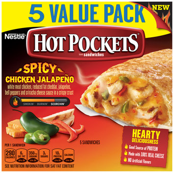 Hot Pockets Frozen Sandwiches Spicy Chicken Jalapeno