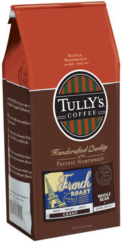 Tully's Coffee Grand Whole Bean Dark Roast French Roast 12 Oz Stand Up Bag