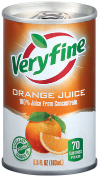 Veryfine Orange from Concentrate 100% Juice  5.5 Oz Can