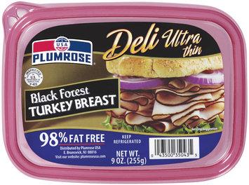 Plumrose Ultra Thin 98% Fat Free Tub Turkey Black Forest 9 Oz Tub