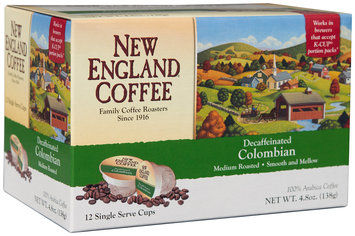 New England® Coffee Decaffeinated Colombian Medium Roasted  4.8 oz. Box