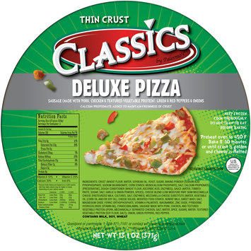 Classics by Palermo's® Deluxe Thin Crust Pizza 13.1 oz. Wrapper
