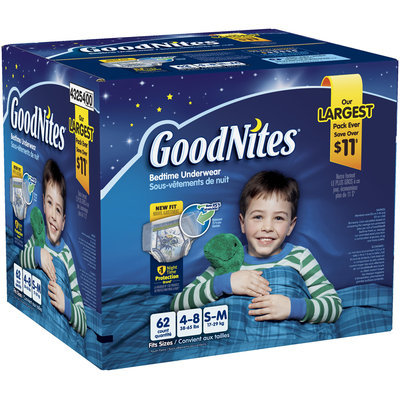 GoodNites® Boy's Bedtime Underwear Small/Medium 62 ct Box