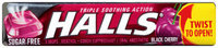 Halls® Sugar Free Black Cherry Cough Suppressant/Oral Anesthetic Menthol Drops 9 ct Pack